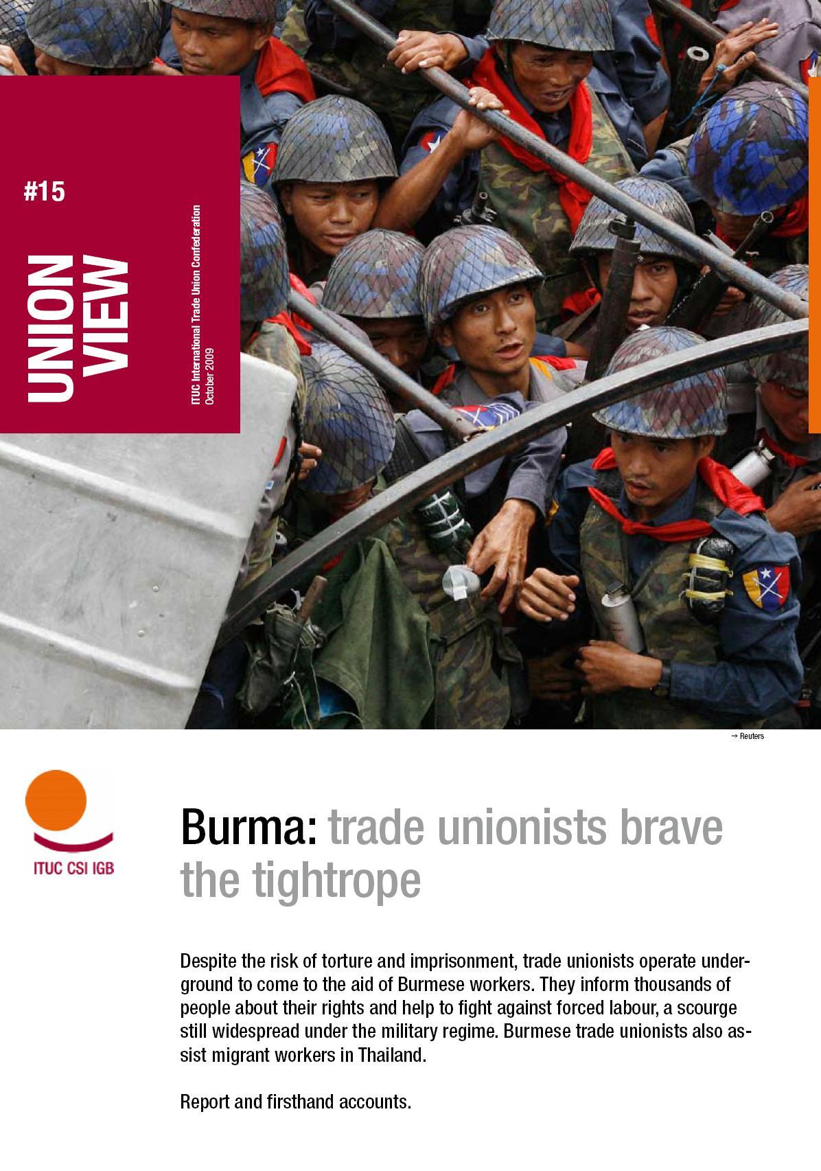 Rapporto ITUC Ottober 2009 - Immagine